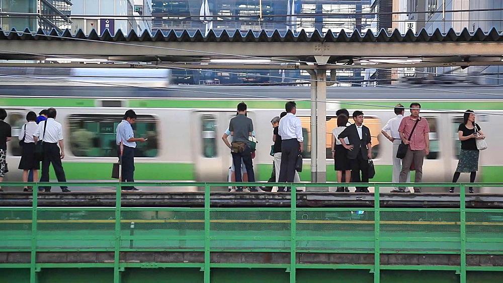 Elevated railtrack in Akihabara, Tokyo, Japan - 1172-1196