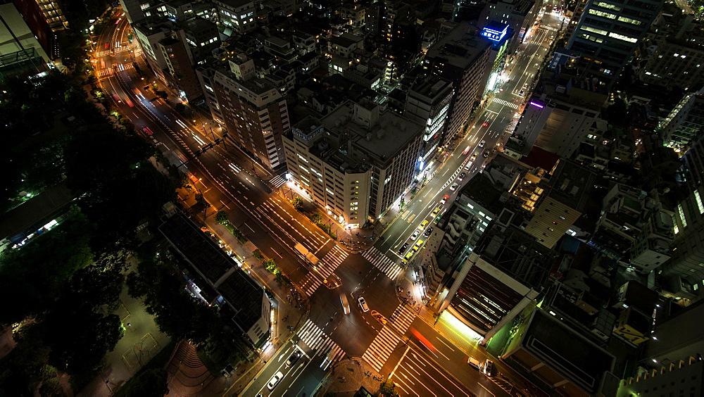 Time Lapse Night View Of Traffic At Tomisakaue Crossing, Tokyo, Japan - 1172-1289
