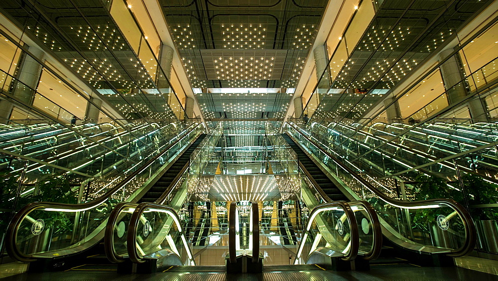 Time lapse wide view of department store escalator in Tokyo, Japan - 1172-1327