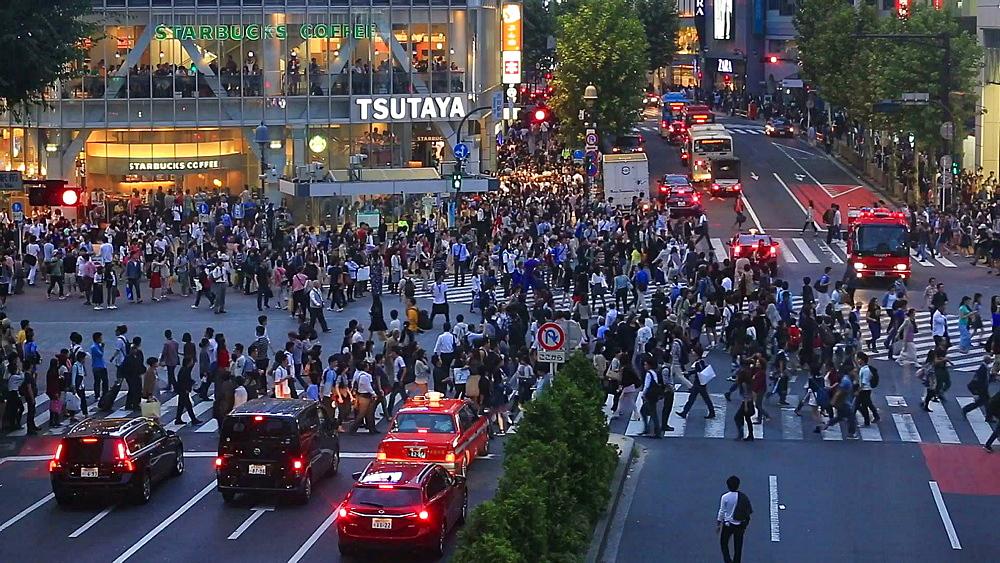 People walking at Shibuya scramble crossing, Tokyo, Japan - 1172-1363