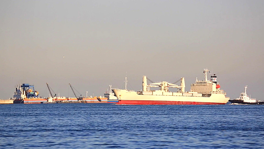 Ships at Tokyo Bay near Haneda airport, Tokyo, Japan - 1172-1508