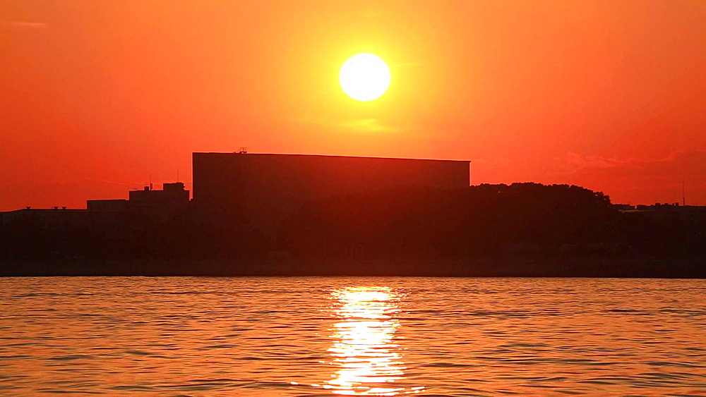 Tokyo Bay near Haneda airport at sunset, Tokyo, Japan - 1172-1519