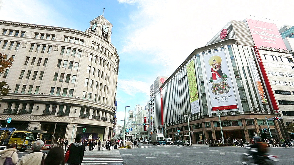 Traffic in the Ginza district, Tokyo, Japan - 1172-1734