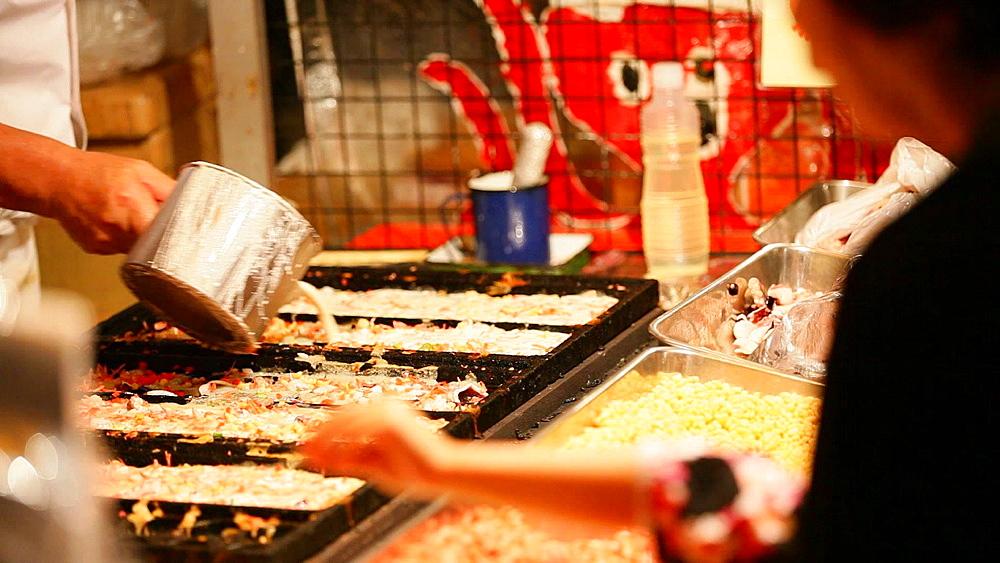 Takoyaki traditional shop at Japanese summer festival - 1172-971