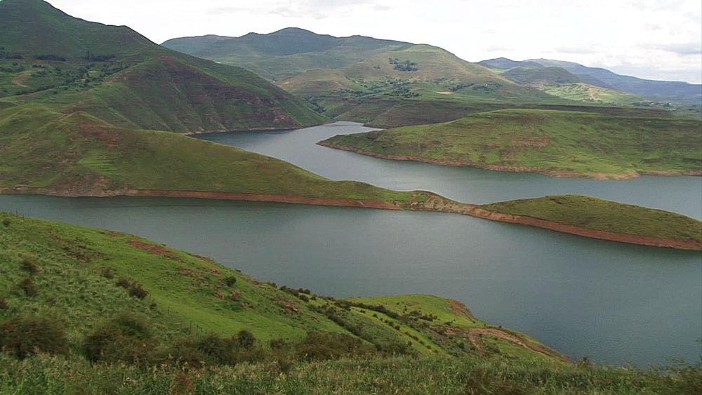 Pan of Katse Dam, Lesotho Highlands in Lesotho, Africa - 1182-123