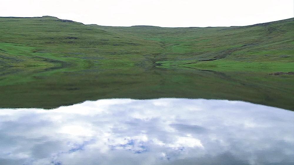 Pan of Katse Dam, Lesotho Highlands in Lesotho, Africa - 1182-124