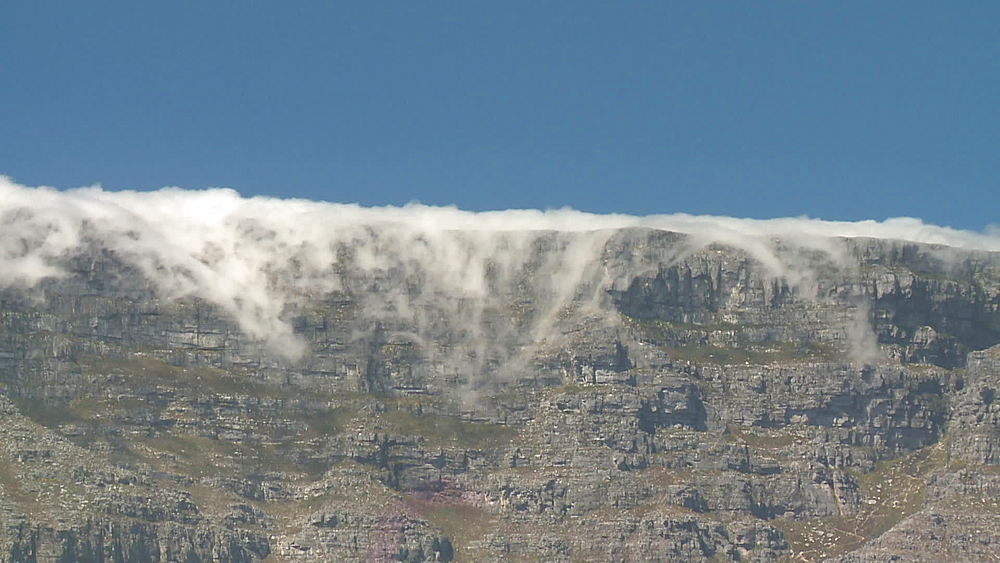 Clouds rolling over Table Mountain, Cape Town, South Africa - 1182-146