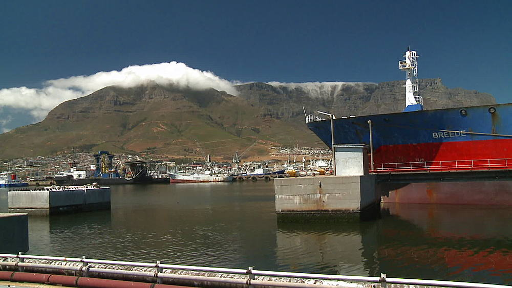 'Breede' Oil Tanker moored in the harbour at Cape Town harbour, South Africa - 1182-154