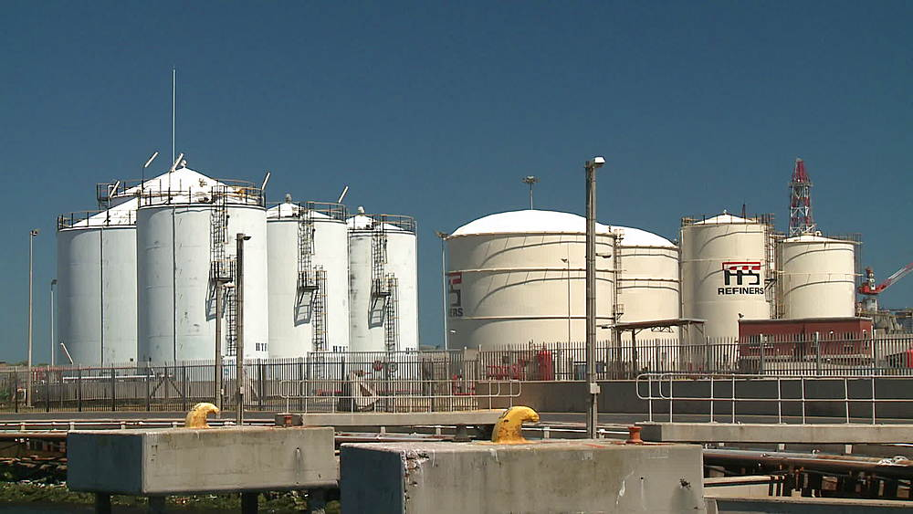 Container tanks at an Oil Refinery in Cape Town, South Africa - 1182-164