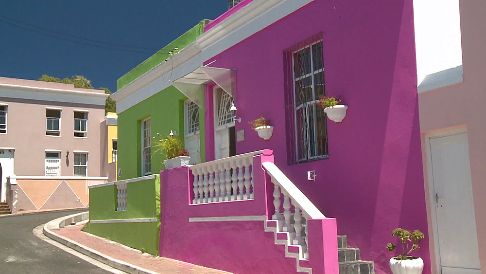 Colourful houses, Cape Town, South Africa - 1182-180