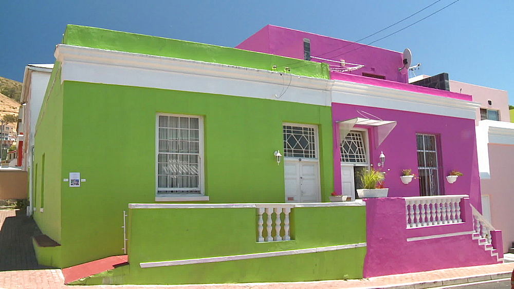 Colourful houses, Cape Town, South Africa - 1182-183