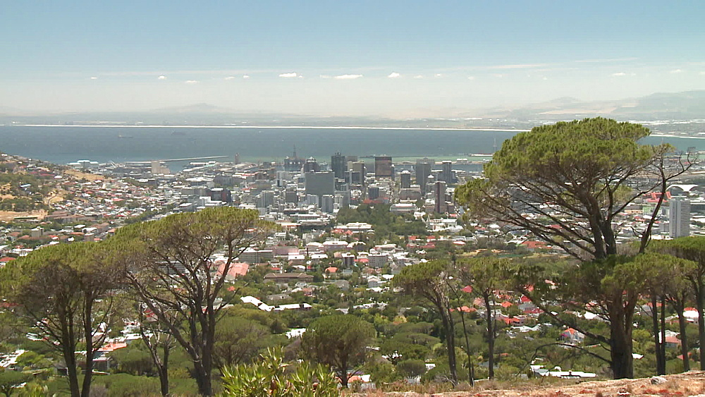 Scenic shot of city and harbour, Cape Town, South Africa - 1182-192