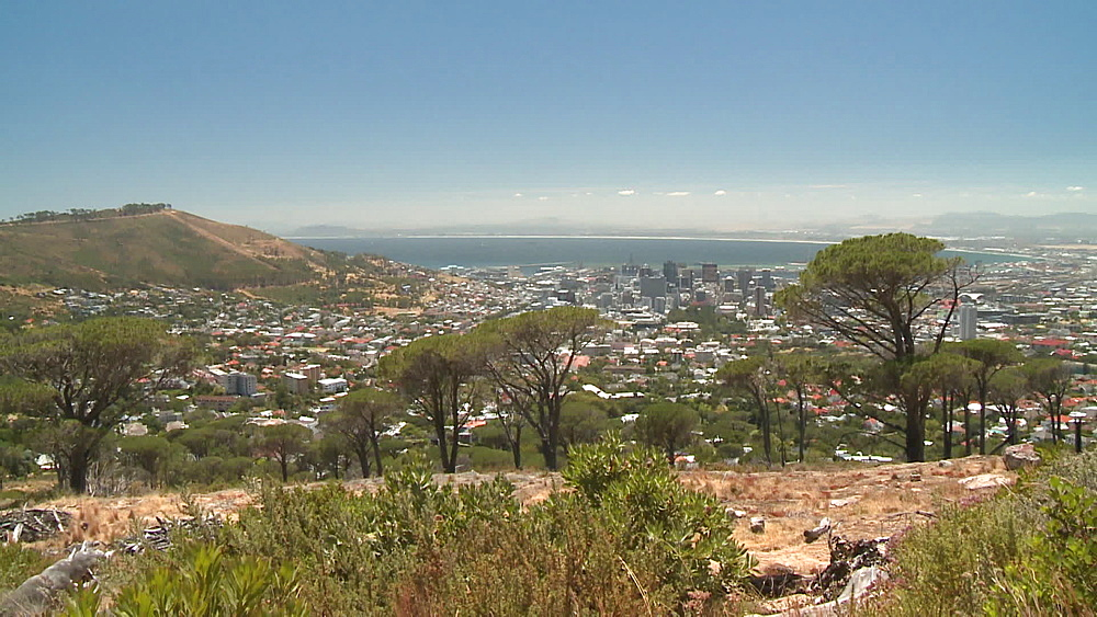 Scenic shot of city and harbour, Cape Town, South Africa - 1182-193