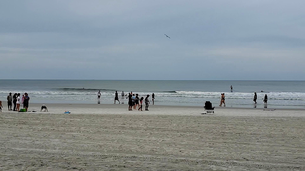 Busy Jacksonville Beach during COVID-19 Pandemic, Jacksonville, Florida, United States of America, North America - 1218-1300