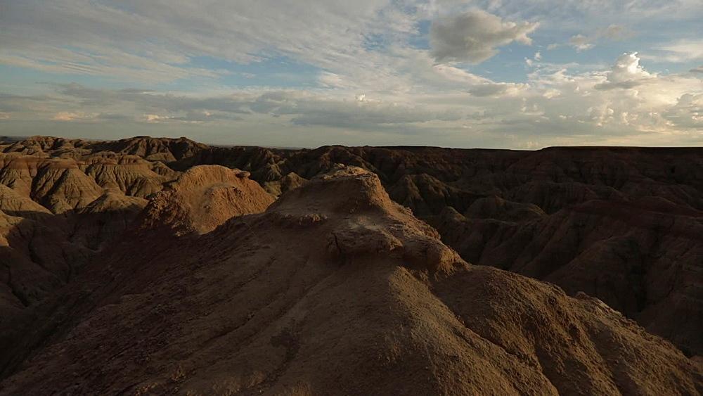 Hiking through Badlands National Park, South Dakota, United States of America, North America - 1218-1375