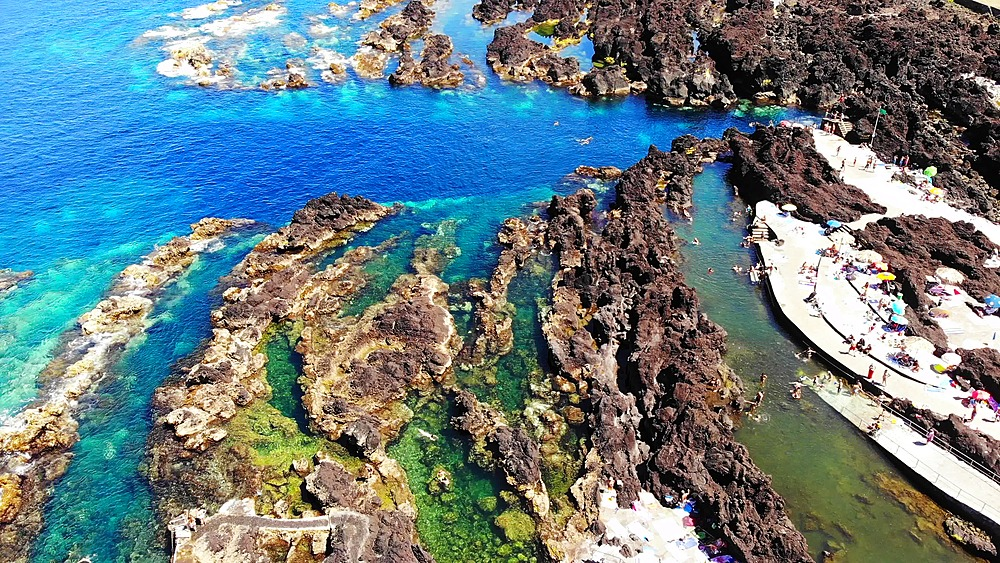 Biscoitos - volcanic tide pool of Terceira Island, The Azores Islands, Portugal