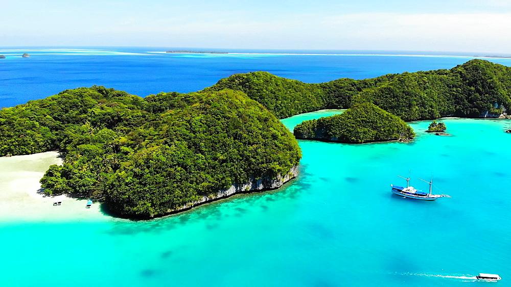 Drone Footage of Koror Rock Islands - 1218-962