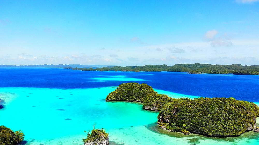 Drone Footage of Koror Rock Islands - 1218-963