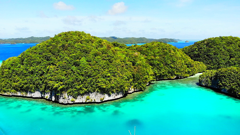 Drone Footage of Koror Rock Islands - 1218-964