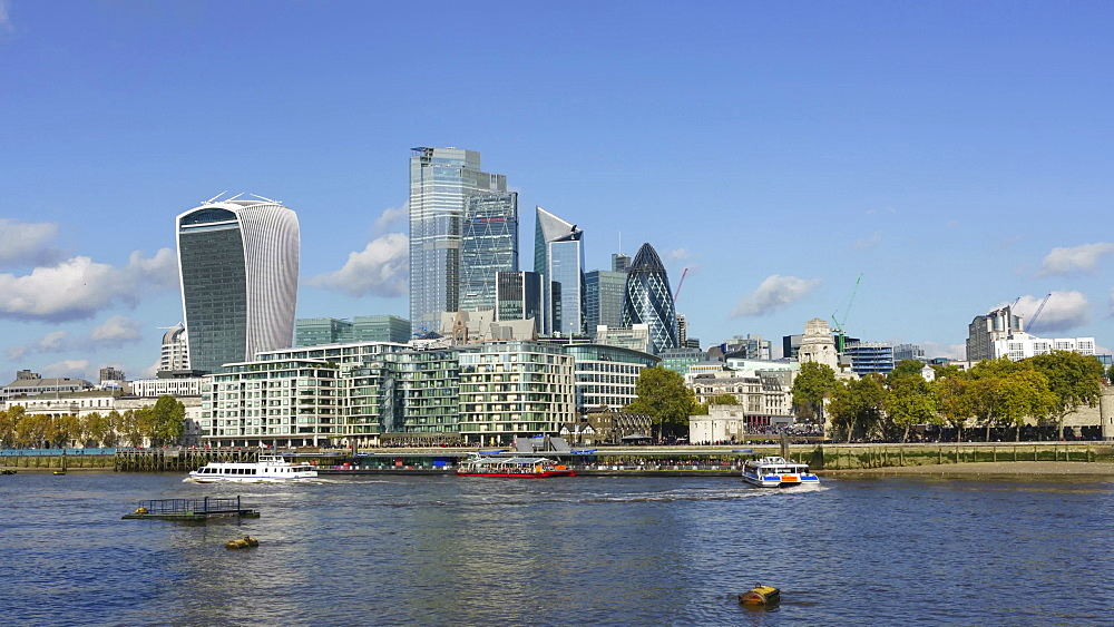 City of London financial district skyline, time lapse, London, England, United Kingdom, Europe - 1226-982