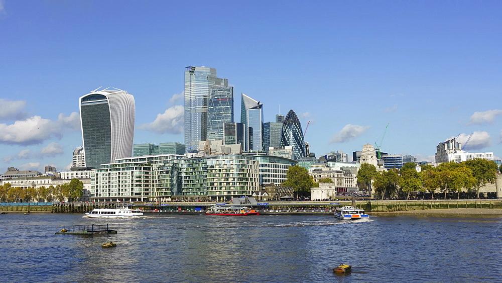 City of London financial district skyline, time lapse, London, England, United Kingdom, Europe - 1226-982