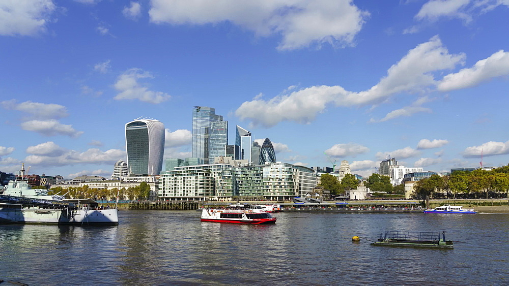 City of London financial district skyline, time lapse, London, England, United Kingdom, Europe