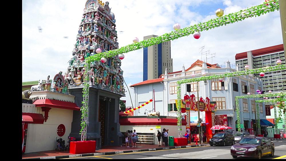 Sri Mariamman Hindu Temple, Chinatown, Singapore, Southeast Asia, Asia - 1226-991