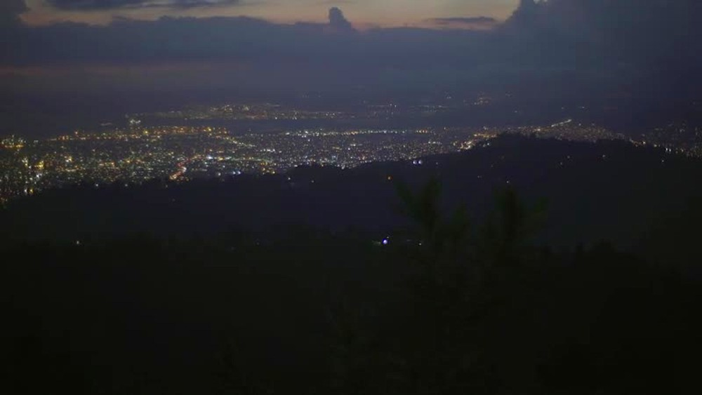 Kingston at night, Kingston and St. Andrew, Jamaica, West Indies, Caribbean, Central America - 1239-11