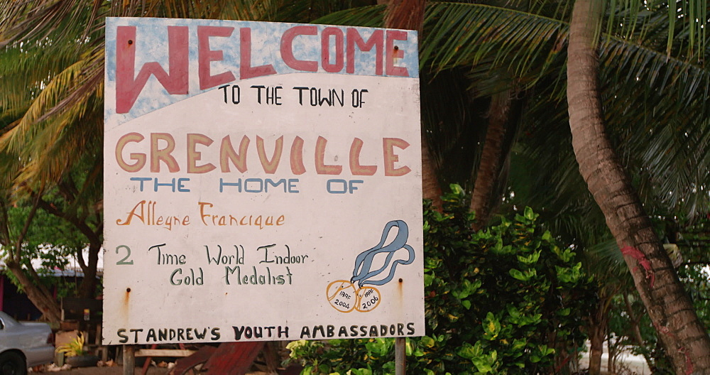 Welcome to Grenville Sign, Grenada, West Indies, Caribbean, Central America