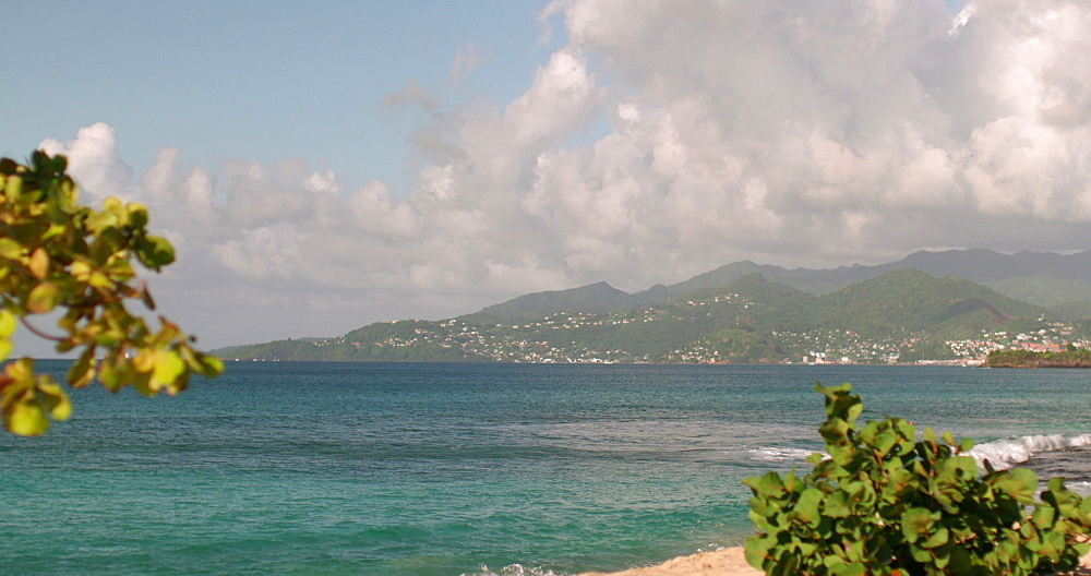 View of Grenada Coastline from Magazine Beach, Grenada, Caribbean, West Indies.