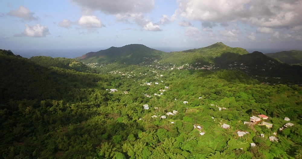 Drone Outskirts of St George?s, Grenada, West Indies, Caribbean