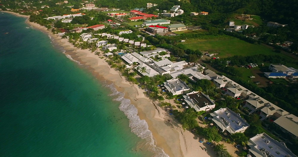 Aerial view over Grand Anse Beach, Grenada, Caribbean, West Indies.