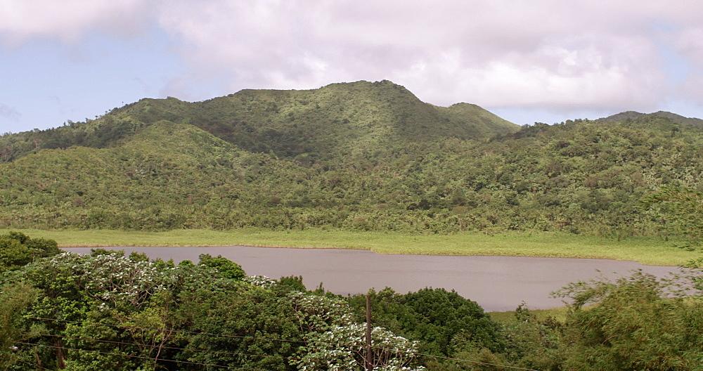 Grand Etang Volcanic Crater Lake, Grand Etang National Park, Grenada, West Indies, Caribbean