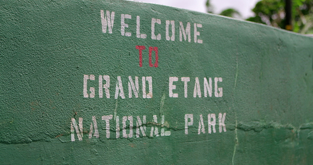 Grand Etang National Park painted wall Sign, Grenada, West Indies, Caribbean