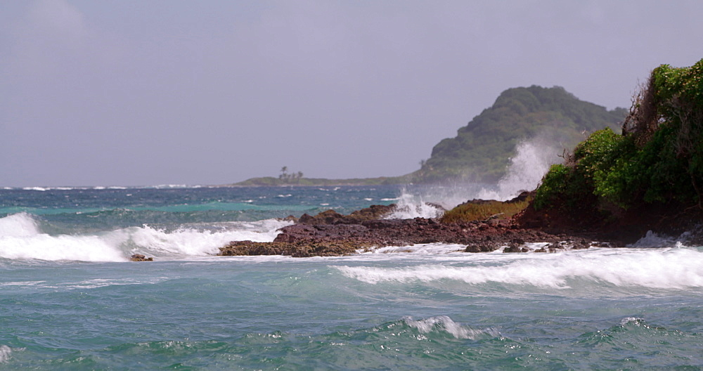 Waves on the rocks, Levera Beach, Grenada, West Indies, Caribbean, Central America