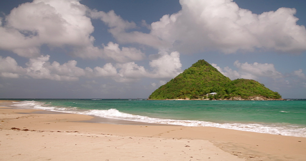 Levera Beach and Sugar Loaf Island, Grenada, Caribbean, West Indies.