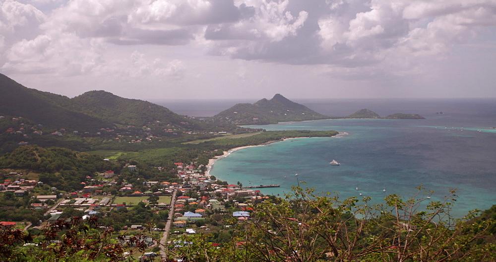 View of Hillsborough Bay, Carriacou, Grenada, Caribbean -  from Princess Royal Hospital, Mount Royal, Belair