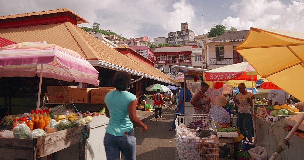St. George''s Spice Market, St. George''s, Grenada, West Indies, Caribbean, Central America - 1239-227