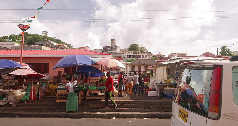 St. George''s Spice Market, St. George''s, Grenada, West Indies, Caribbean, Central America - 1239-228