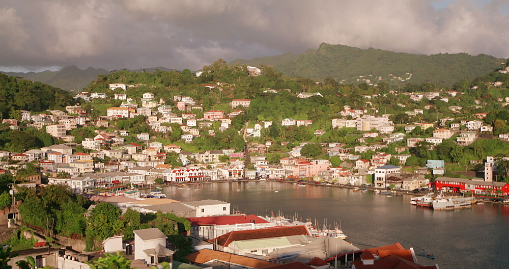 View over St George?s Carenage from Fort George, Grenada, West Indies, Caribbean