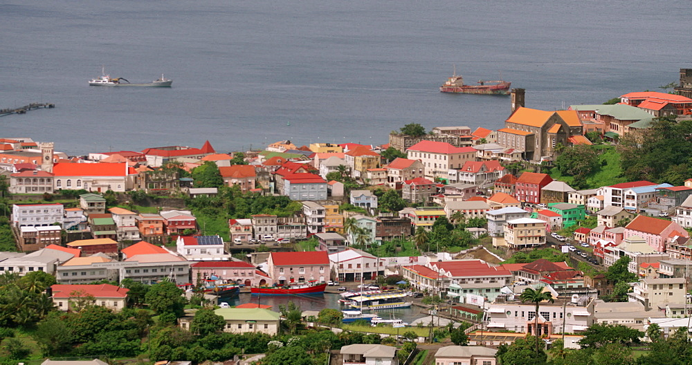 St. George's Panorama, St. George's, Grenada, West Indies, Caribbean, Central America