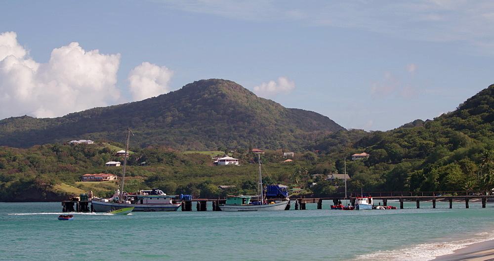 Hillsborough Bay Pier, Carriacou, Grenada, Caribbean. - 1239-26