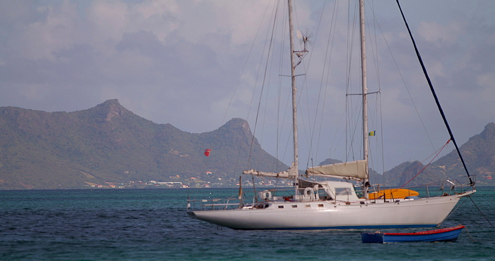 Boat in the bay, Carriacou, Grenada, Caribbean.