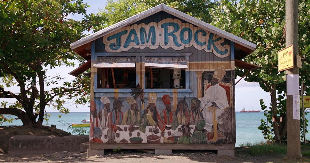 Caribbean beach shack, Hillsborough, Carriacou, Grenada, Caribbean. - 1239-30