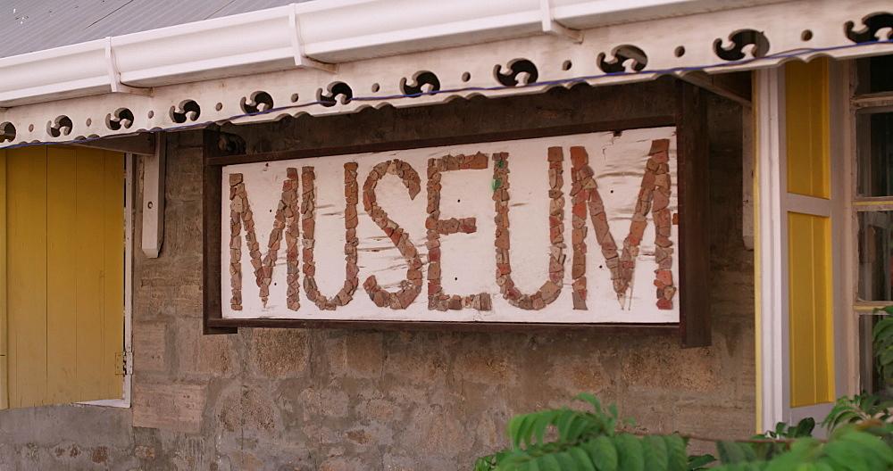 Carriacou Museum Sign, Hillsborough, Carriacou, Grenada, Caribbean. - 1239-32