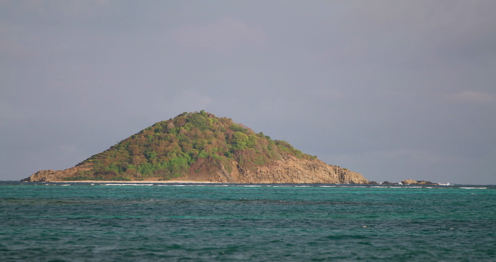 View of Petite Dominique Island from Windward, Carriacou, Grenada, Caribbean.
