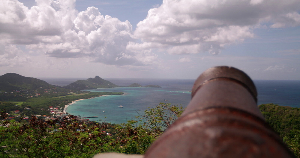 View of Hillsborough Bay, Carriacou, Grenada, Caribbean -  from Princess Royal Hospital, Mount Royal, Belair, Canons