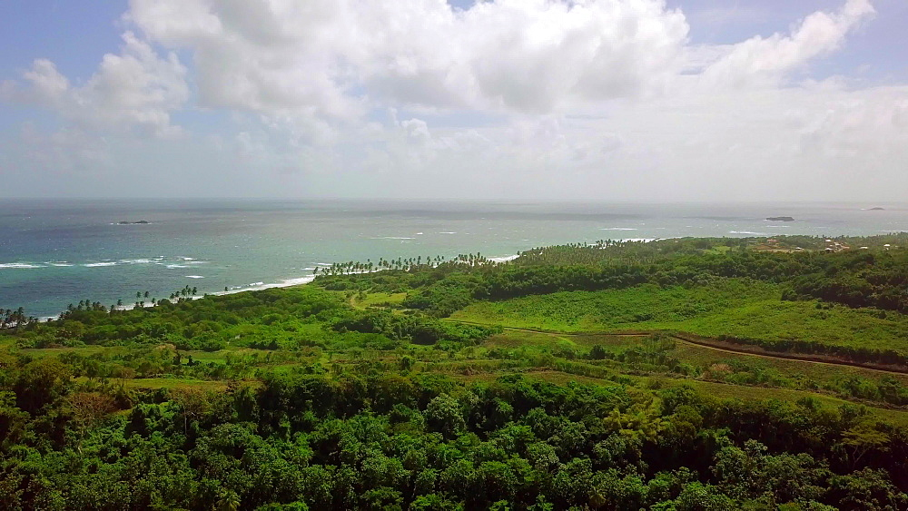 View of Bathway Beach and Antoine Bay, Levera National Park, Grenada, West Indies, Caribbean, Central America