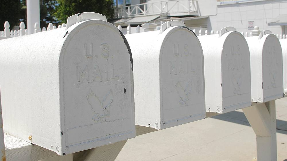 U.S. Mail box, Malibu, California, United States of America, North America