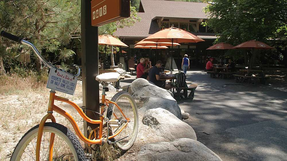 Reant a Bike at Yosemite Village, Yosemite National Park, UNESCO World Heritage Site, California, USA, North America